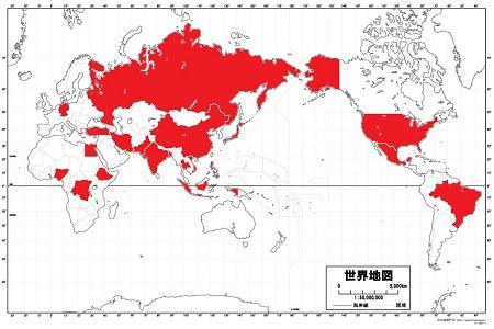 世界の人口ランキングTOP20